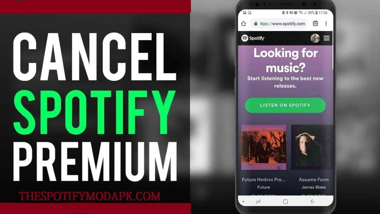 Cancel a Spotify premium account